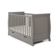 Obaby Stamford Classic Cot Bed + Free Pocket Sprung Mattress - Taupe Grey