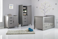 Obaby Stamford Classic 3 Piece Room Set - Taupe Grey