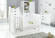 Obaby Stamford Classic 4 Piece Room Set - White