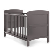 Obaby Grace Cot Bed + Free Foam Mattress - Taupe Grey