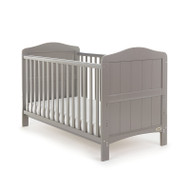 Obaby Whitby Cot Bed + Free Foam Mattress - Taupe Grey