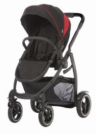 Graco Evo XT Stroller - Black/Red