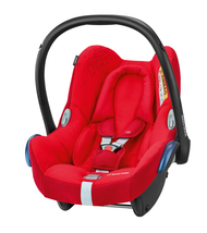 Maxi Cosi Cabriofix Carseat + FamilyFix Package Deal - Vivid Red
