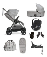 Mamas & Papas Flip XT³ Cloud Z 6 Piece Bundle with Accessories - Skyline Grey