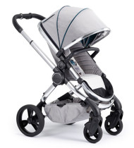 iCandy Peach Chrome Pushchair - Dove Grey With Changing Bag, Duo-Pod and Ride on Board