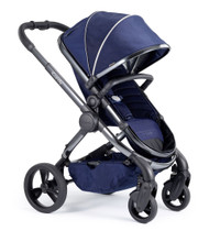 iCandy Peach Phantom Pushchair - Indigo With Changing Bag, Duo-Pod and Ride on Board