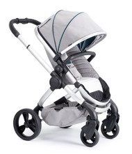 iCandy Peach Satin Pushchair - Dove Grey With Changing Bag, Duo-Pod and Ride on Board