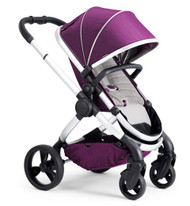 iCandy Peach Satin Pushchair - Damson With Changing Bag, Duo-Pod and Ride on Board