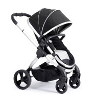 iCandy Peach Satin Pushchair - Beluga With Changing Bag, Duo-Pod and Ride on Board