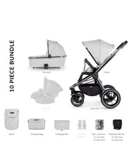 Venicci Tinum 2-in-1 Travel System - Light Grey