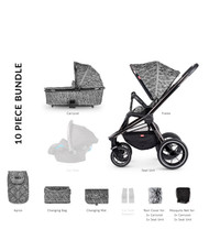 Venicci Tinum 2-in-1 Travel System - Camo Grey