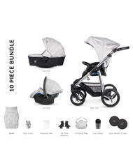 Venicci Silver 3 in 1 Travel System – Silver Wild Grey