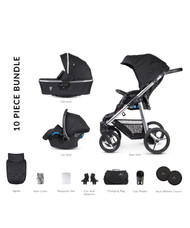 Venicci Silver 3 in 1 Travel System – Silver Wild Black