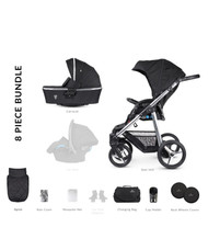 Venicci Silver 2 in 1 Travel System – Silver Wild Black