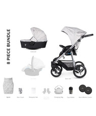 Venicci Silver 2 in 1 Travel System – Silver Wild Grey