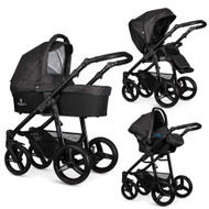 Venicci Soft Edition 3 in 1 Travel System – Soft Denim Black