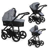 Venicci Soft Edition 3 in 1 Travel System – Soft Medium Grey