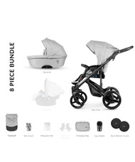 Venicci Asti 2 in 1 travel system – Asti Light Grey