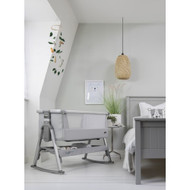 Tutti Bambini CoZee Air Bedside Crib - Space Grey & Slate