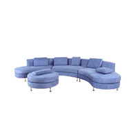 Designer Curved Sectional Sofa – 4 Piece Set