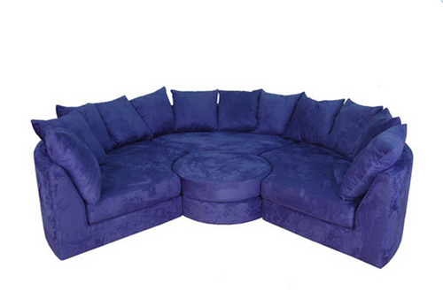 Round sectional sofa