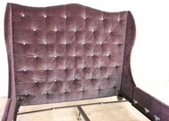 Custom Tufted Wingback Bed frame in Velvet