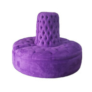 Purple Borne Settee Sofa
