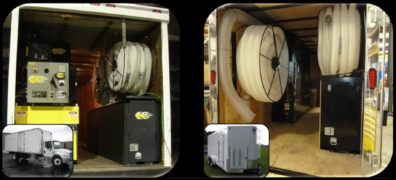 Cool Machines Insulation Machine Truck And Trailer System Setup
