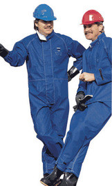 Ansell 66-671-4X 4X Blue 49 In Sawyer-Tower CPC Polyester Trilaminate Gore Chemical Protection Coat