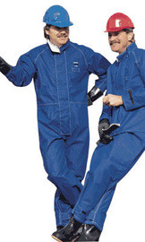 Ansell 966442 Medium Blue Sawyer-Tower CPC Nomex Trilaminate Gore Chemical Protection Coveralls