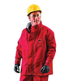 Ansell 66-663-2X 2X Red 49 In Sawyer-Tower CPC Polyester Trilaminate Gore Chemical Protection Coat