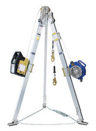 DBI/SALA 8301044 9 Ft Advanced Salalift II Winch Sealed-Blok 3-Way SRL Aluminum Tripod