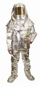 National Safety Apparel C46PFLGAP Lg 7 Oz Aluminized PBI Kevlar 3Pc Approach Suit