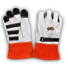 Power Gripz TPG-012 12in Leather Protector Lineman Gloves