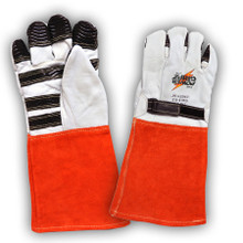 Power Gripz TPG-016 16in Leather Protector Lineman Gloves