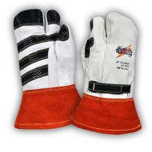 Power Gripz TPG-012M 12in Leather Protector Lineman Mittens
