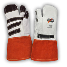 Power Gripz TPG-014M 14in Leather Protector Lineman Mittens