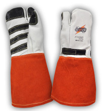 Power Gripz TPG-016M 16in Leather Protector Lineman Mittens
