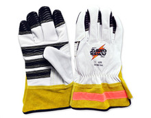 Power Gripz TPG-WG10 10in Leather Utility Lineman Gloves