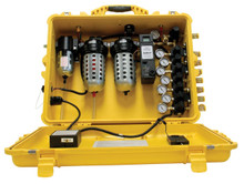 Bullard CAB100IRSC SAR Clean Air Box 100CFM 8 Outlet Schrader 10PPM Independent Regulators
