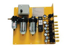 Bullard CAB100PMIRSS SAR Panel Mount 100CFM 8 Outlet Hansen Stainless 10PPM Independent Regulators