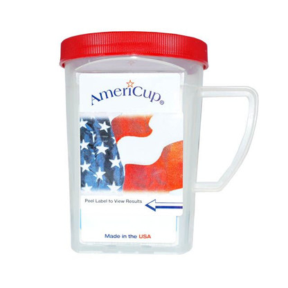 The Twelve Panel AmeriCup Drug Test is a self-contained drug testing urinalysis-screening device that can detect the presence of any of the drug metabolites in minutes, using NIDA cutoff levels. The Twelve panel AmeriCup is excellent to be used in the workplace, correctional, clinical and at home.