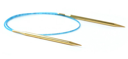 Addi Turbo® Lace circular needles were created for precise knitting. Perfect for lace, sock and all-around knitting! Aggressively tapered all-brass tips, and a ultra-pliable blue cord make the newest addition to the addi® line a best-seller. The clear choice for picky knitters!