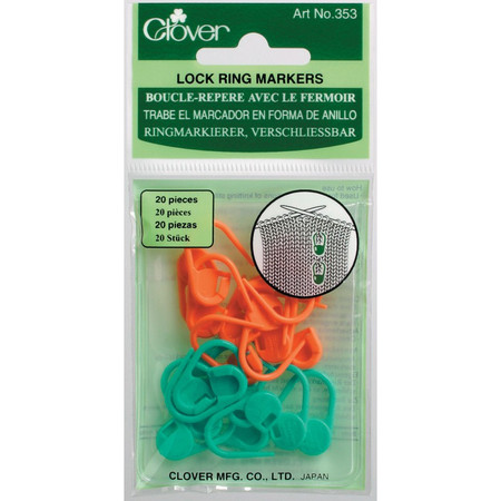 Locking stitch markers lock onto knitted stitches for worry-free knitting. Use them to mark increases or decreases in your pattern, also useful when marking a mistake. 20 pcs in each package