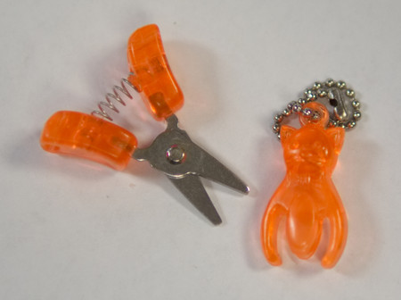 "Cute little kitty snips are less than 2"" long when closed."