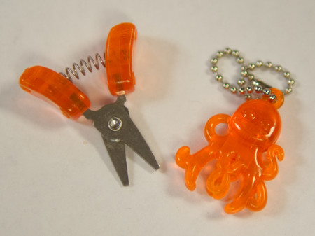 """Cute little octopus snips are less than 2"""" long when closed."""