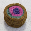 Hand-dyed, this colorful gradient yarn is light, soft, and wonderful for breathy work.