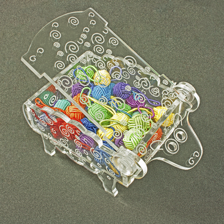 Here is a fun little Sheep Box to hold your stitch markers and other small accessories.