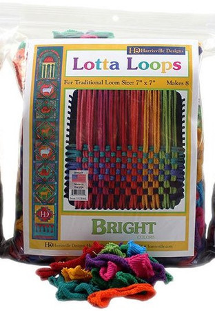 "Makes eight 6"" X 6"" Potholders! Our 100% cotton potholder loops are guaranteed to fit on our metal looms!"