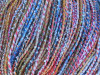 A breathtaking variegated light fingering yarn saturated with vibrant colors, this light cotton blend brings joy to your creations!